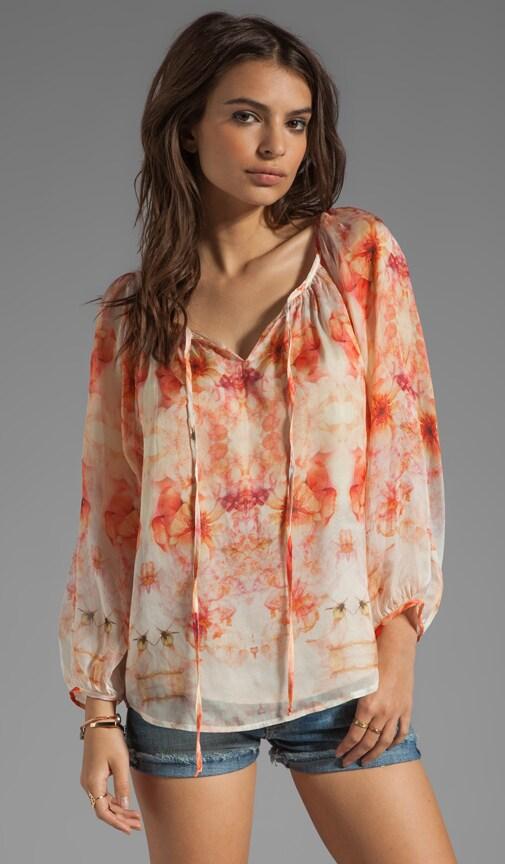 Flora Georgette Front Tie Blouse