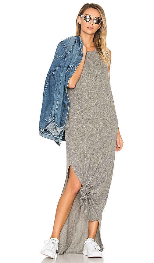 The Great The Knotted Tee Dress in Gray
