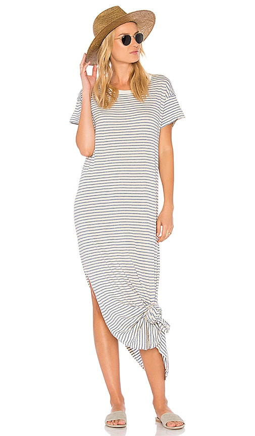 The Great The Knotted Tee Dress in Cream