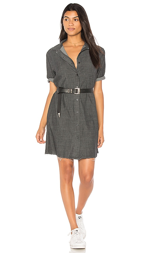 The Great The Bias Shirt Dress in Charcoal