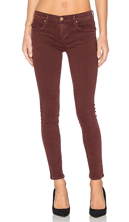 The Great The Skinny Jean in Burgundy