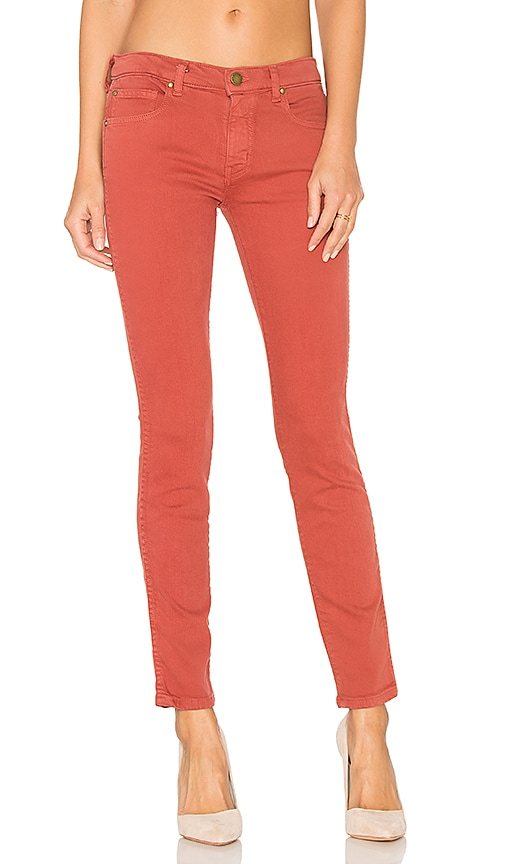 The Great The Skinny Skinny Jeans in Terracotta