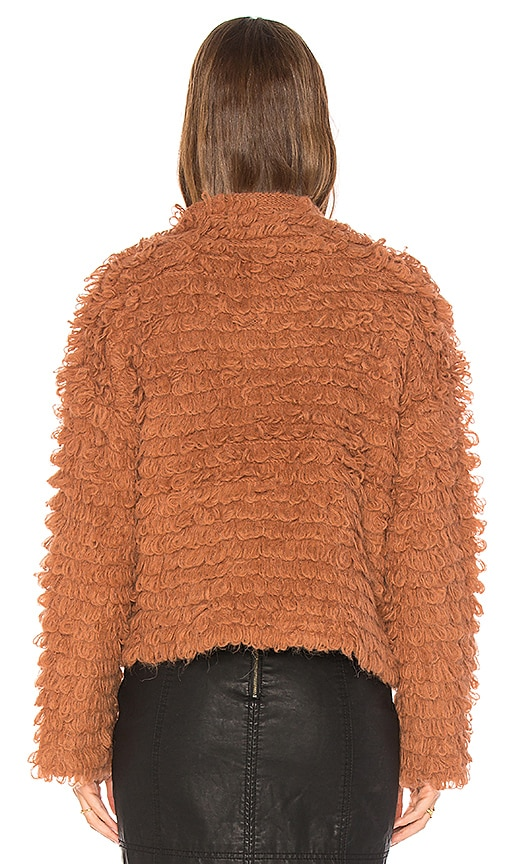 THE GREAT The Short Monster Loop-Knit Sweater, Mauve