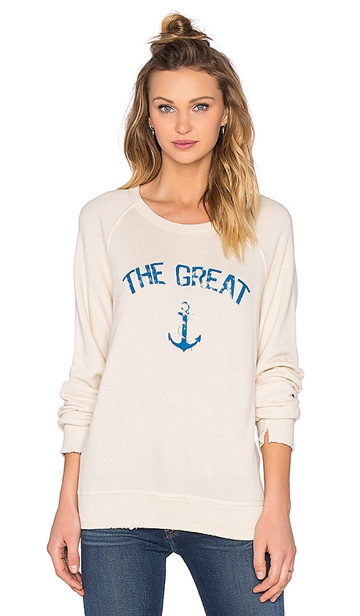 The Great Anchor Sweatshirt in Ivory