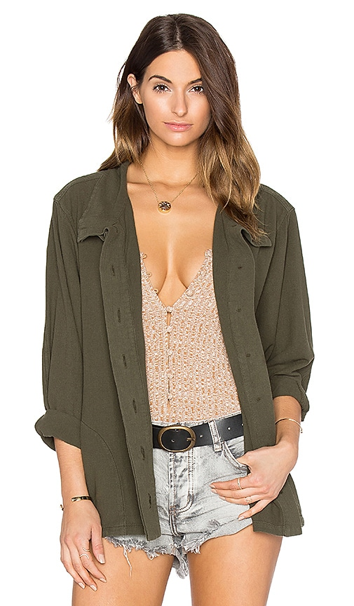 The Great The Slouchy Army Jacket in Olive
