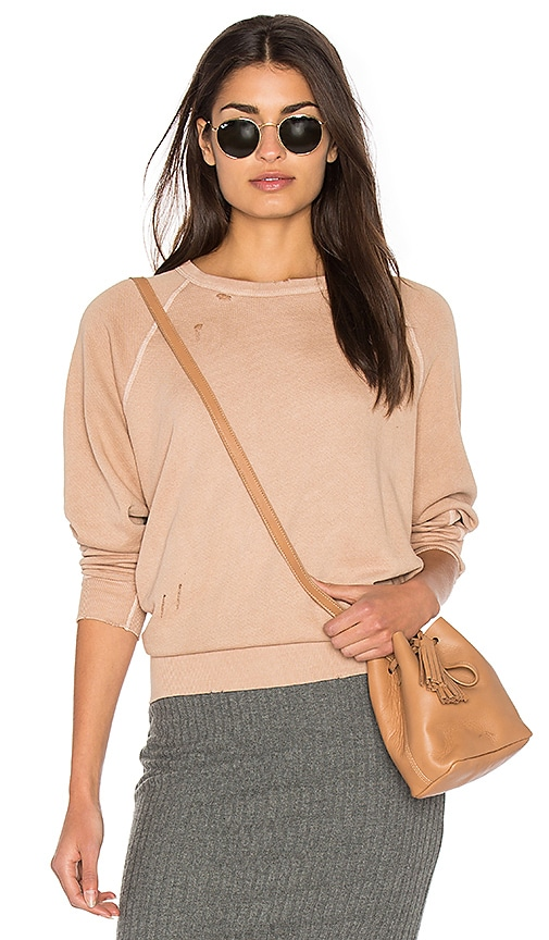 The Great The College Sweatshirt in Blush