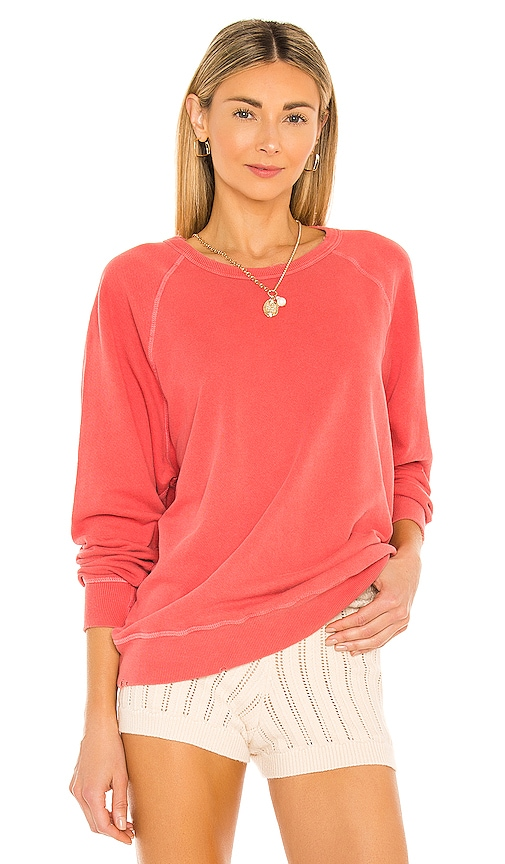 The Great The College Sweatshirt in Peach