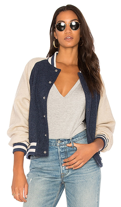 The Great The Letterman Jacket in Navy