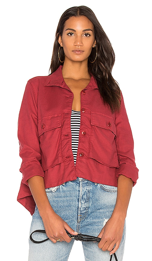 The Great The Swing Army Jacket in Red
