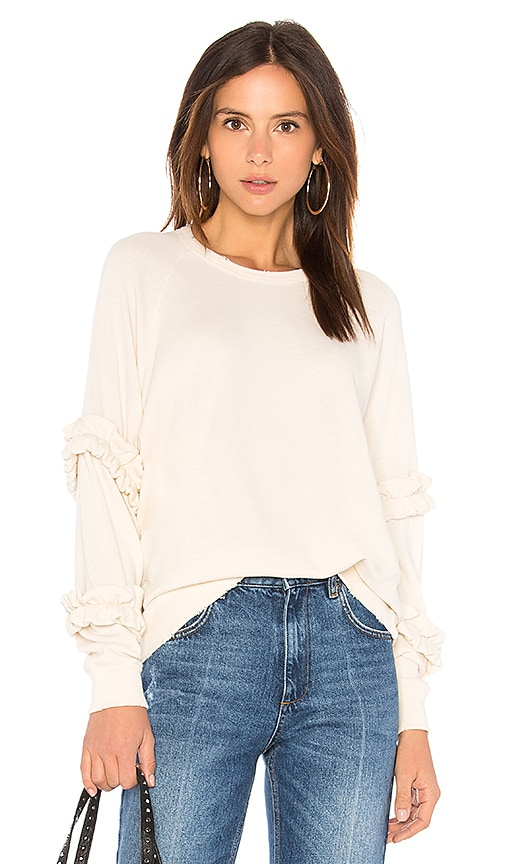 The Great The Frill Sweatshirt in White
