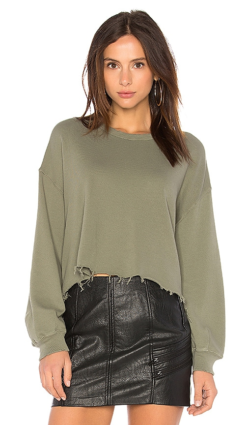 The Great The Cut Off Sweatshirt in Green