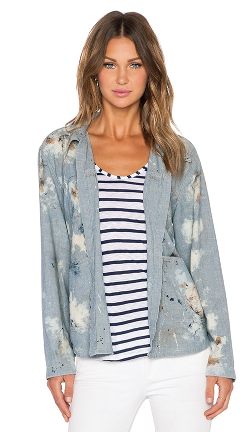 The Great The Open Shirt Jacket in Blue