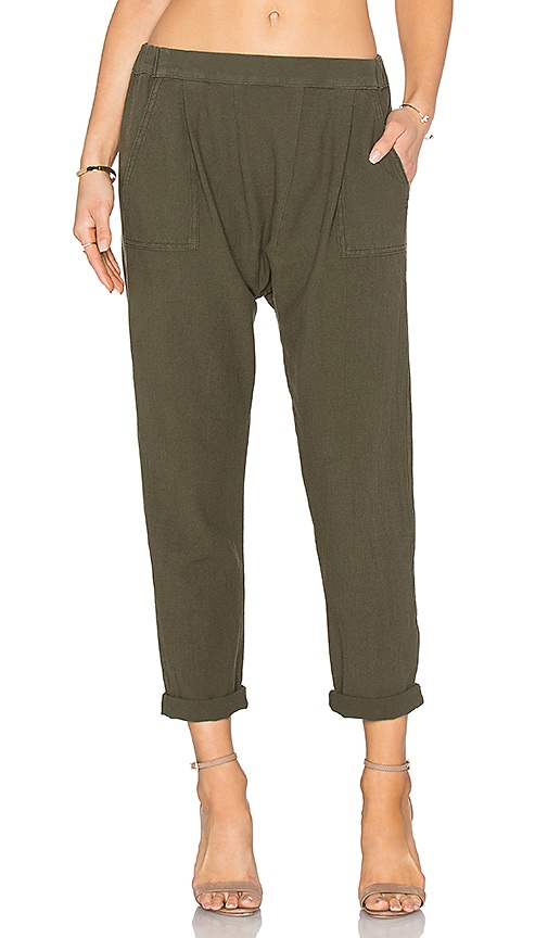 The Great The Harem Pant in Dark Olive
