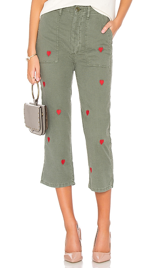 The Great The Straight Leg Army Pant in Olive