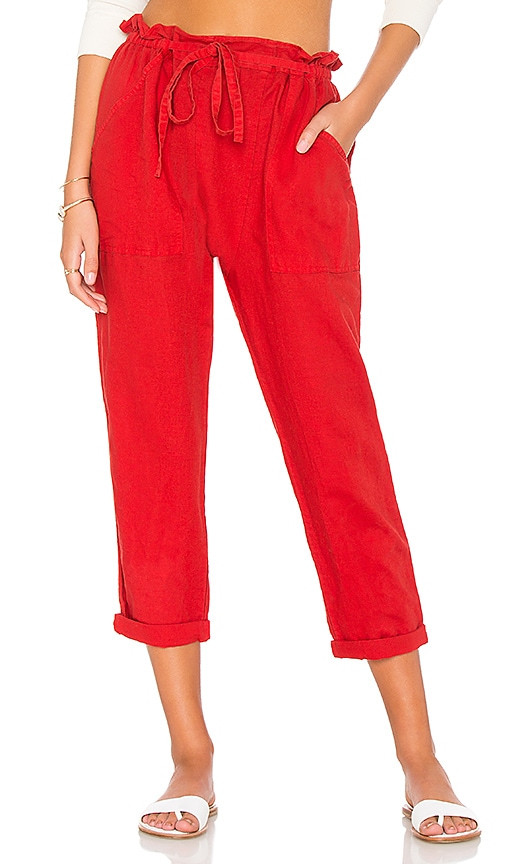 The Great The Paper Bag Harem Pant in Red
