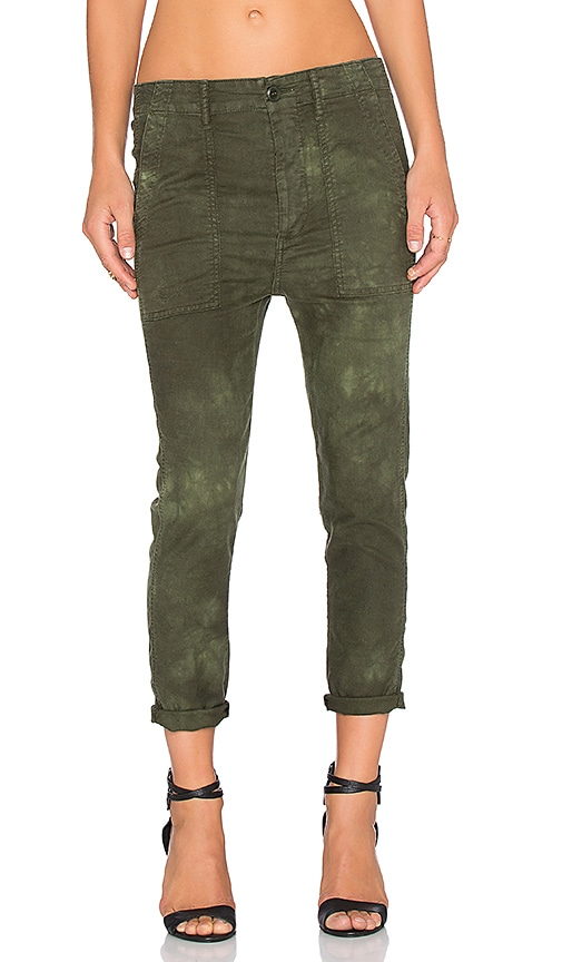The Great The Slouch Armies Pant in Worn Dark Army