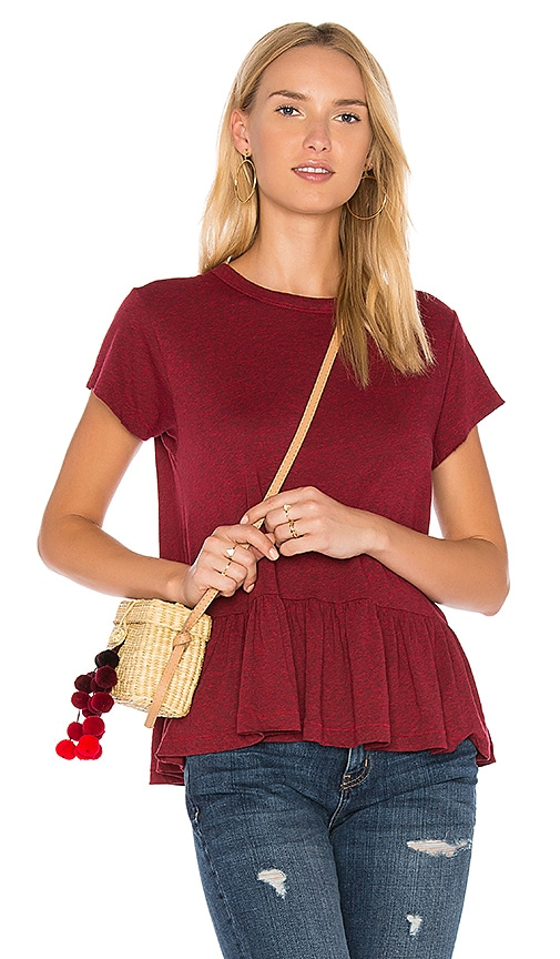 The Great The Ruffle Tee in Red