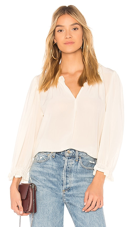 The Great The Story Blouse in Cream