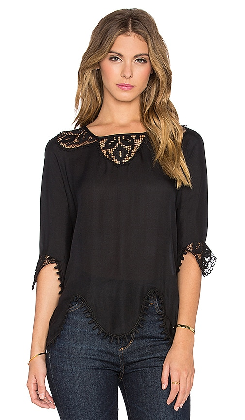 The Great The Victorian Top in Black