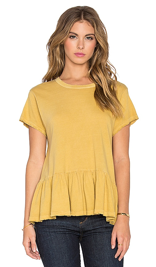 The Great The Ruffle Tee in Honeycomb