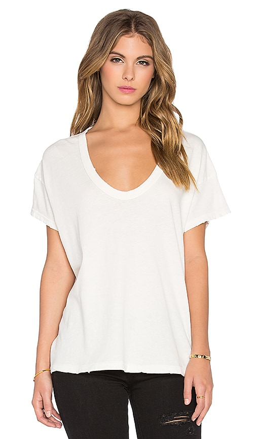 The Great The U-Neck Tee in Ivory