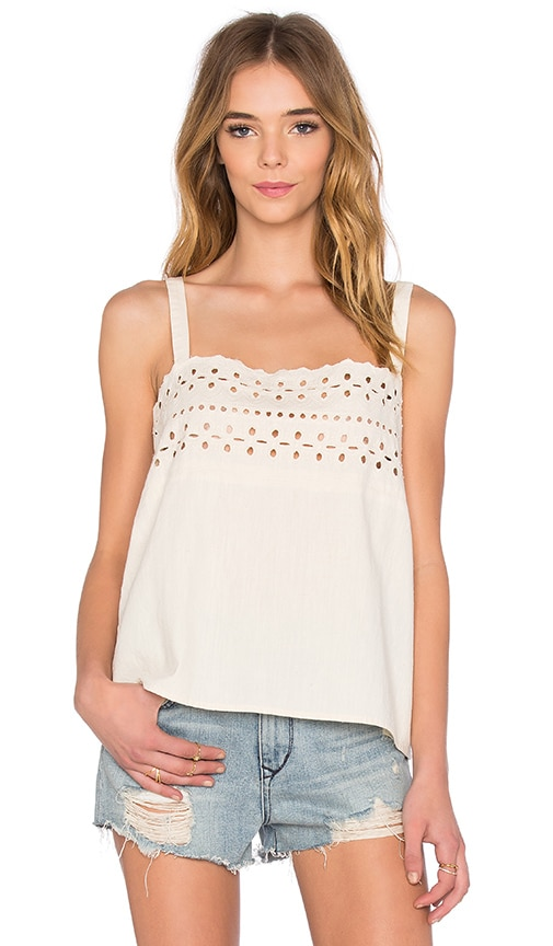 The Great Eyelet Cami in Ivory