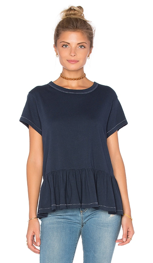 The Great Ruffle Tee in Navy