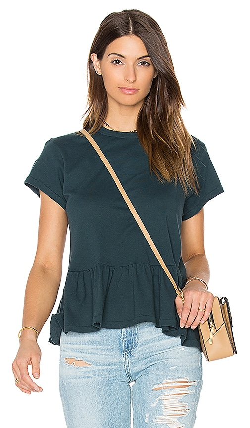 The Great The Ruffle Tee in Teal