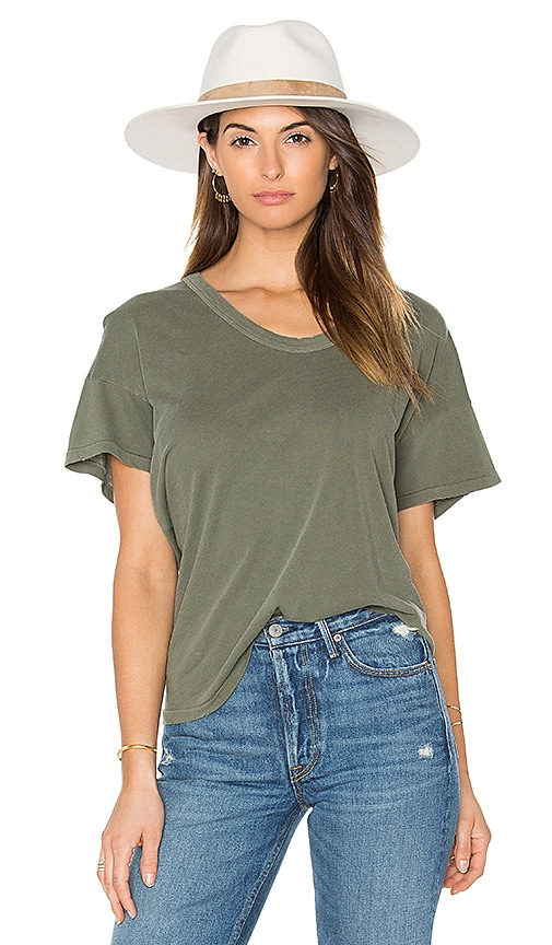The Great The U Neck Tee in Olive