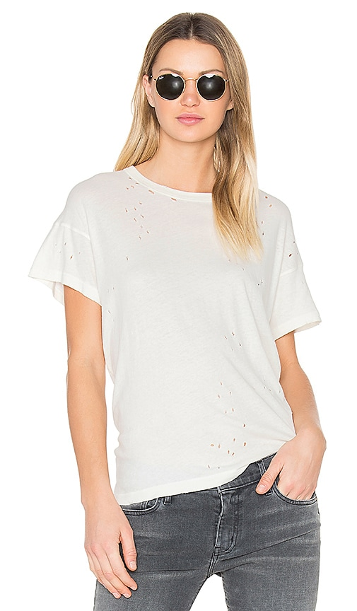 The Great The Boxy Crew Neck Tee in Ivory