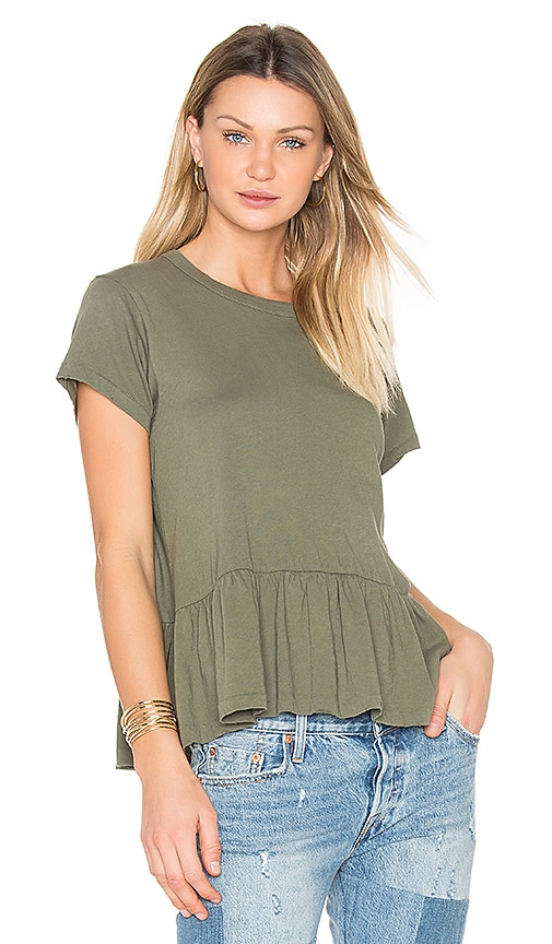 The Great The Ruffle Tee in Green