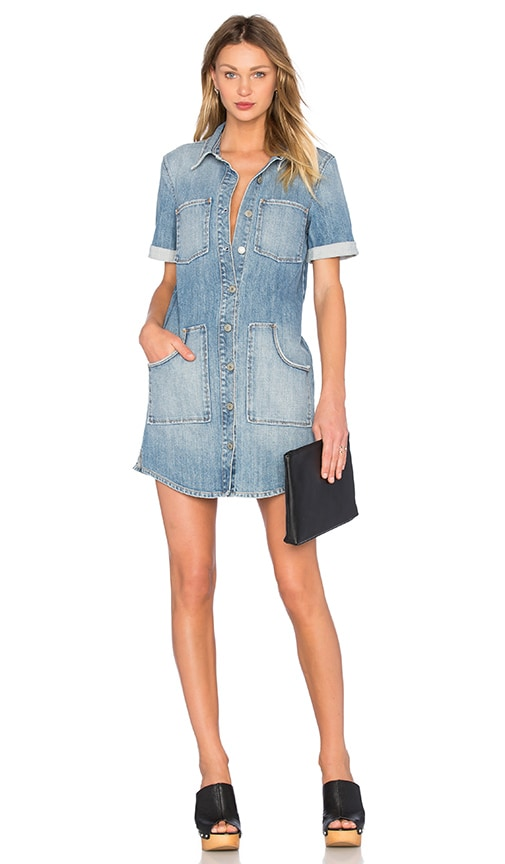 GRLFRND Miranda Shirt Dress in Mockingbird