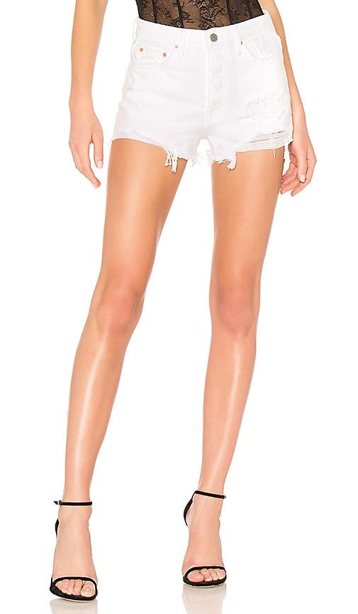 Cindy Rigid High Waist Denim Shorts in Granada