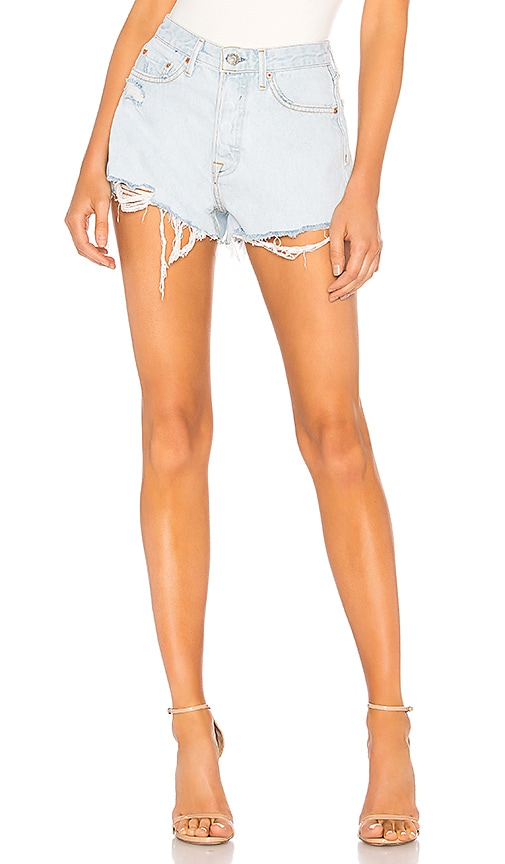 Cindy High Rise-Cut Off Short