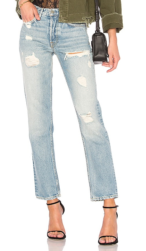 JEAN DROIT CROPPED TAILLE HAUTE HELENA