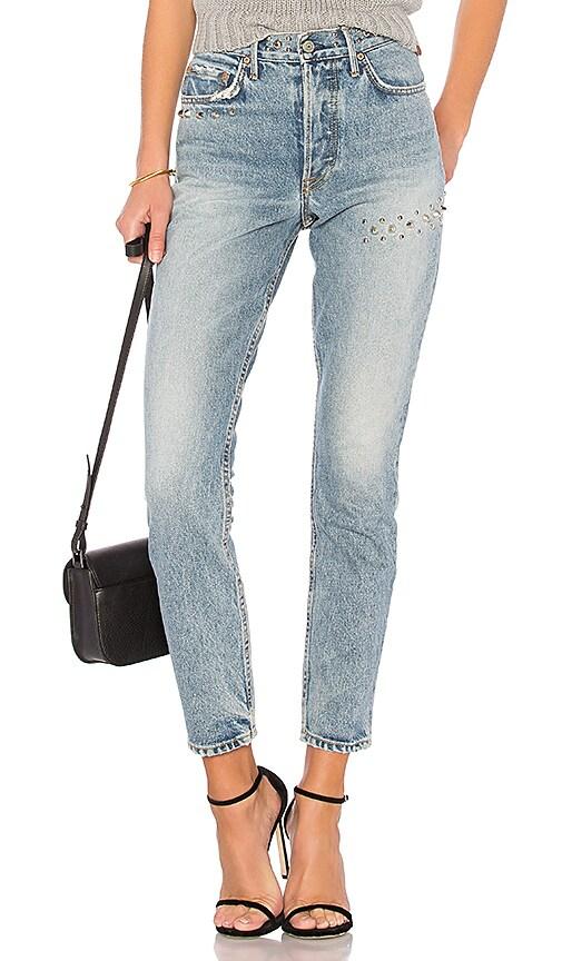 GRLFRND Karolina High-Rise Skinny Jean in Denim Light