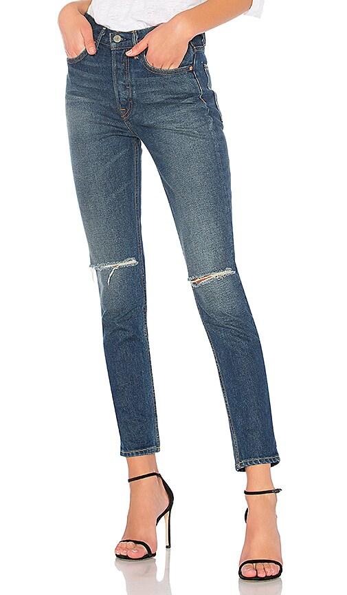 GRLFRND Karolina High-Rise Skinny Jean in Denim Dark