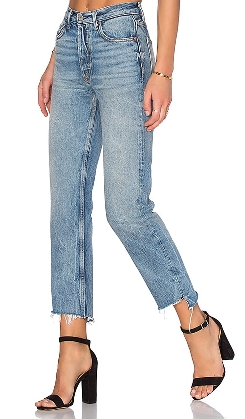 GRLFRND x REVOLVE Helena High-Rise Straight Jean in My Sharona