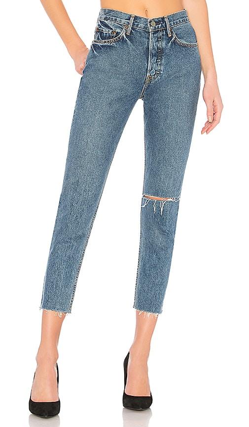 GRLFRND Karolina High-Rise Skinny Jean in Sienna