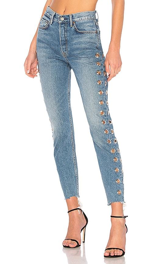 GRLFRND Karolina High-Rise Skinny Jean in Femme Fatal