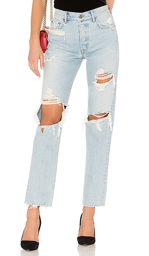 Helena High-Rise Straight Crop in Denim Light. - size 27 (also in 23,26,28,29) GRLFRND