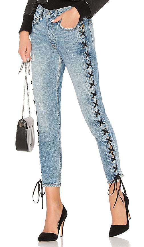 GRLFRND Karolina High Rise Straight Jean in Imperial