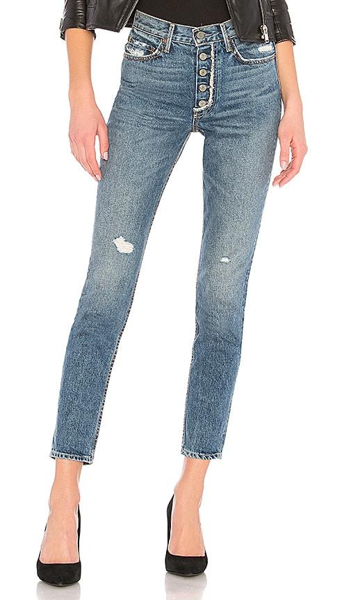 GRLFRND Karolina High-Rise Skinny Jean in Mother Fray