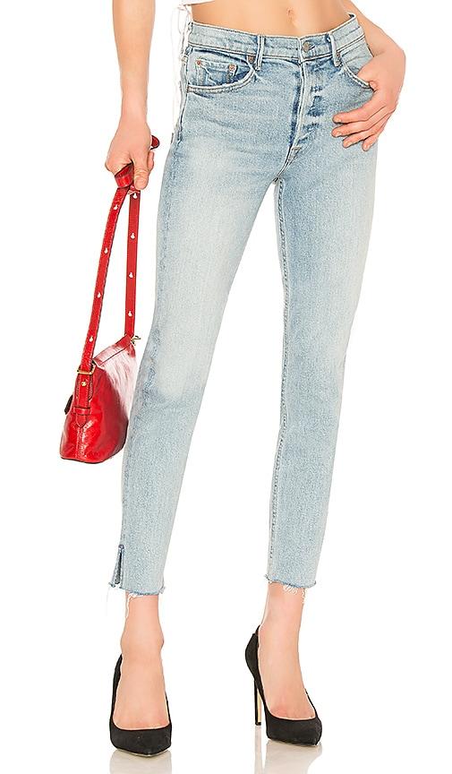 GRLFRND Karolina High-Rise Skinny Jean in Titanium