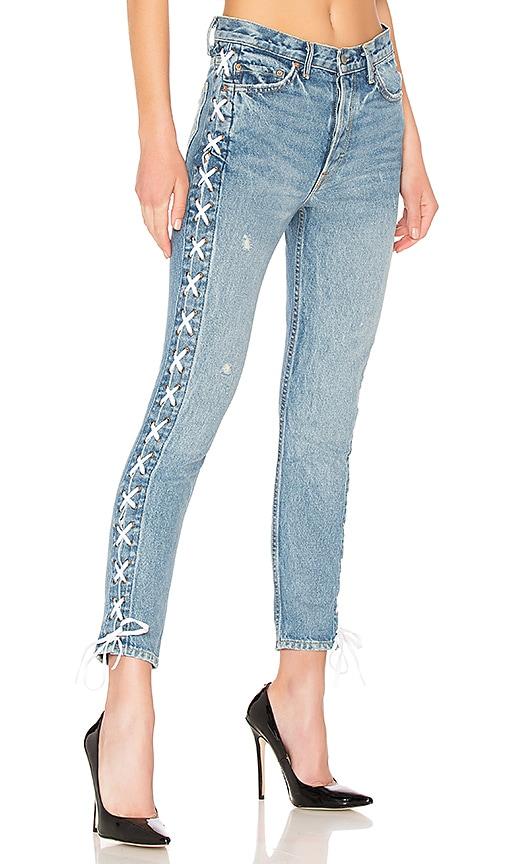 GRLFRND Karolina High-Rise Skinny Jean in Kingdom