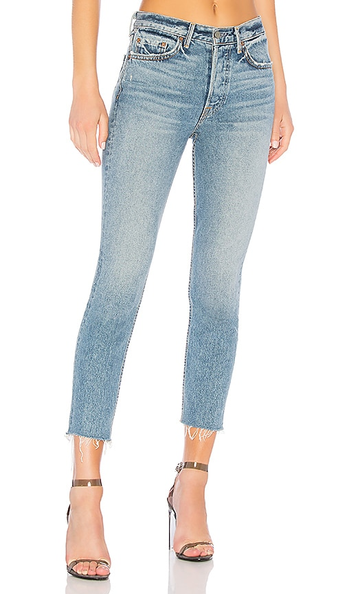 Karolina High Rise Crop Jean by Grlfrnd