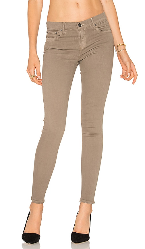GRLFRND Candice Super Stretch Mid-Rise Skinny Jean in In the Flesh