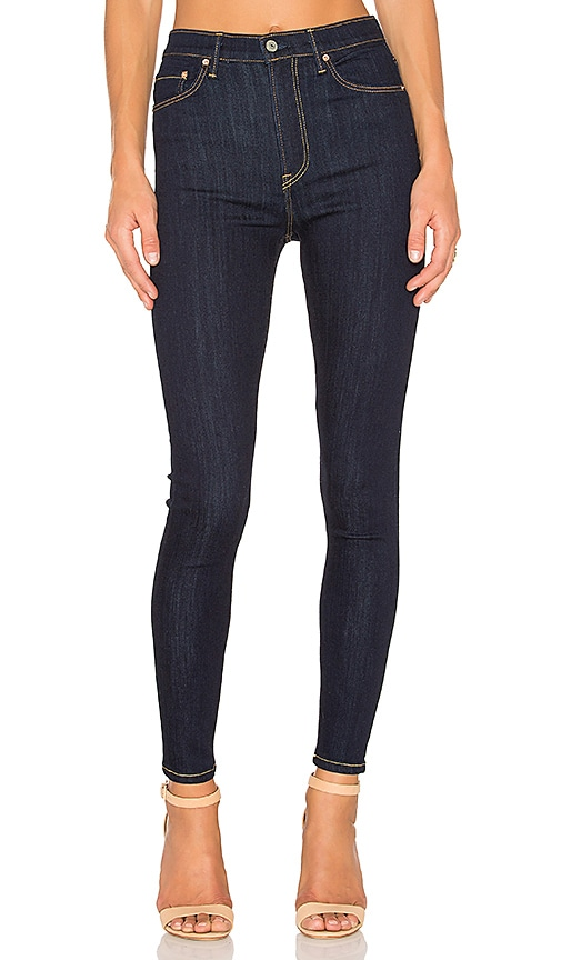 GRLFRND Kendall Super Stretch High-Rise Skinny Jean in Denim Dark