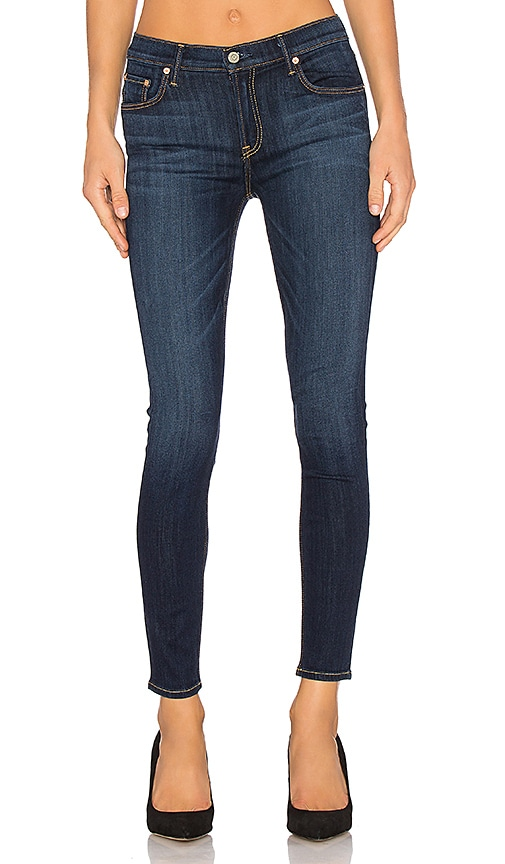 GRLFRND Candice Mid-Rise Skinny Jean in Denim Dark