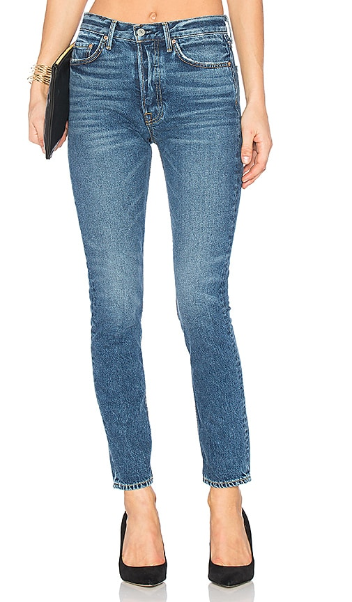 Karolina High-Rise Skinny in Blue GRLFRND Sale High Quality JL9JNrh8
